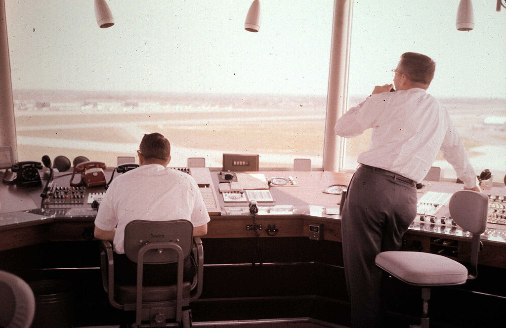 Image of air traffic controllers inside the tower