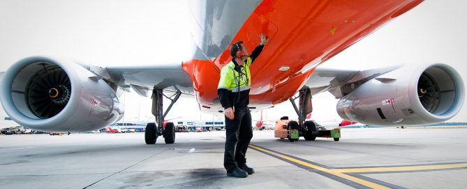 Image of Jetstar ground operations crew inspecting an aircraft